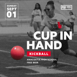 Cup in Hand Kickball