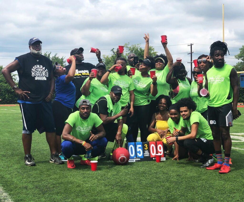 2019 Cup in Hand Kickball Tourney Champs: Goombay Kickball Bandits
