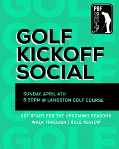 golf kickoff social