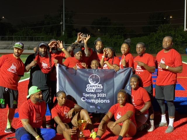 2021 Spring Capital City Kickball Champions - Team Squad Up