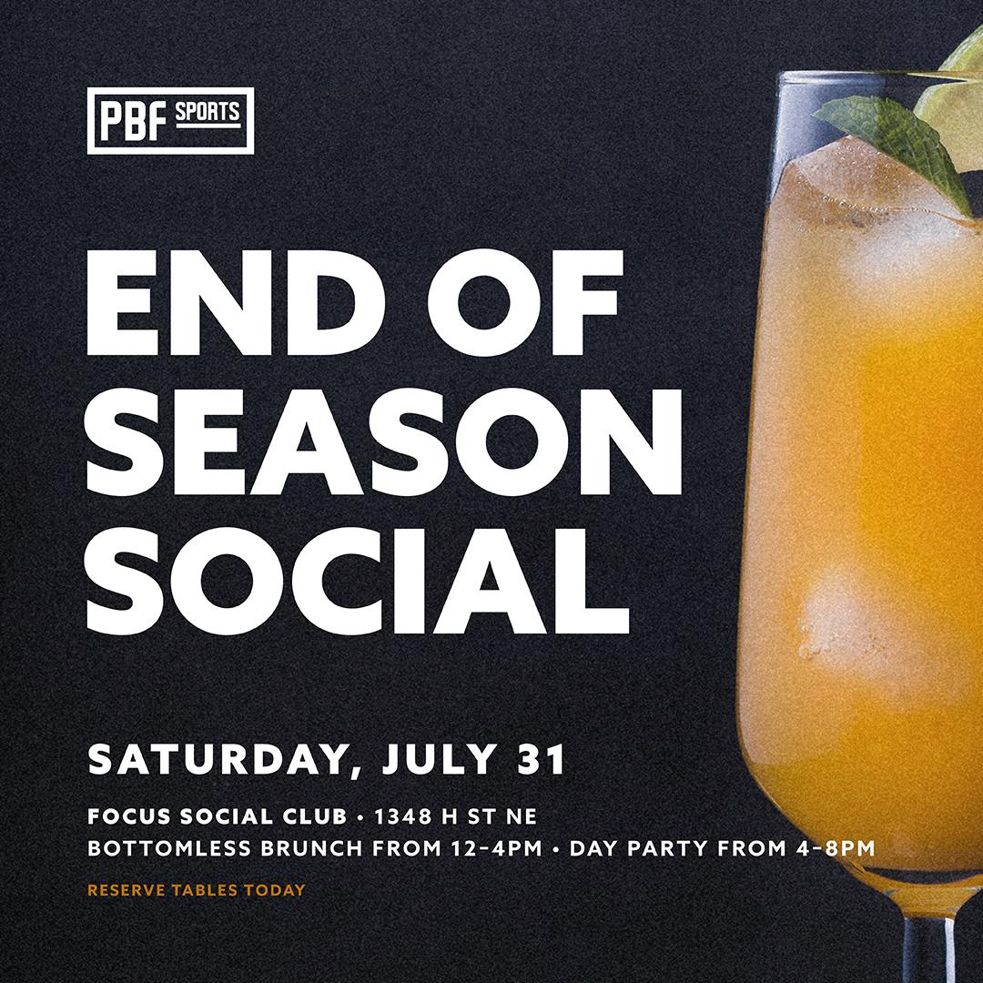 end of season social