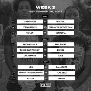 flag football week 3